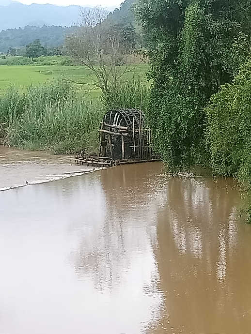Schöpfrad am Nang Pawn River